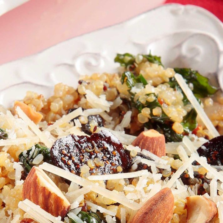 Quinoa Salad with California Dried Figs & Wilted Kale