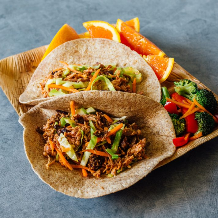California Fig and Pork Moo Shu Tacos