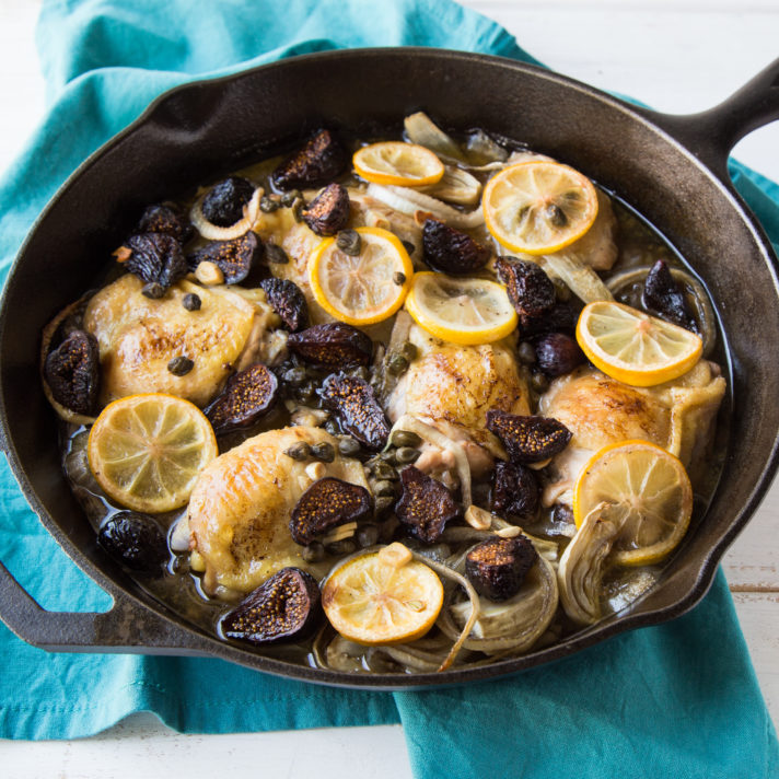 Fennel and California Fig Braised Chicken Thighs