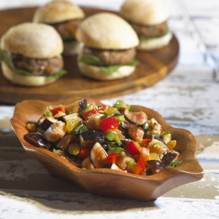Turkey Sliders with California Fig and Pepper Salsa