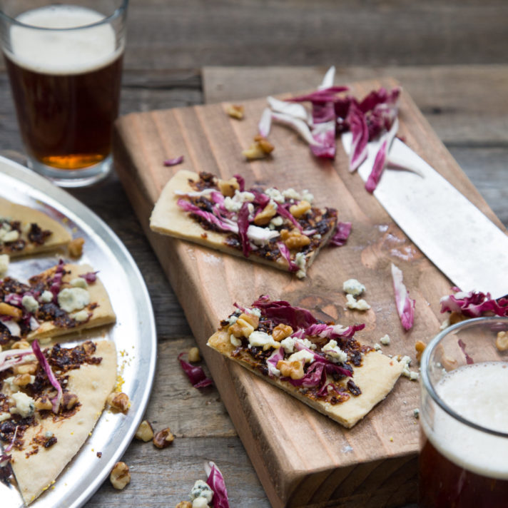 California Common Fig and Walnut Flatbread