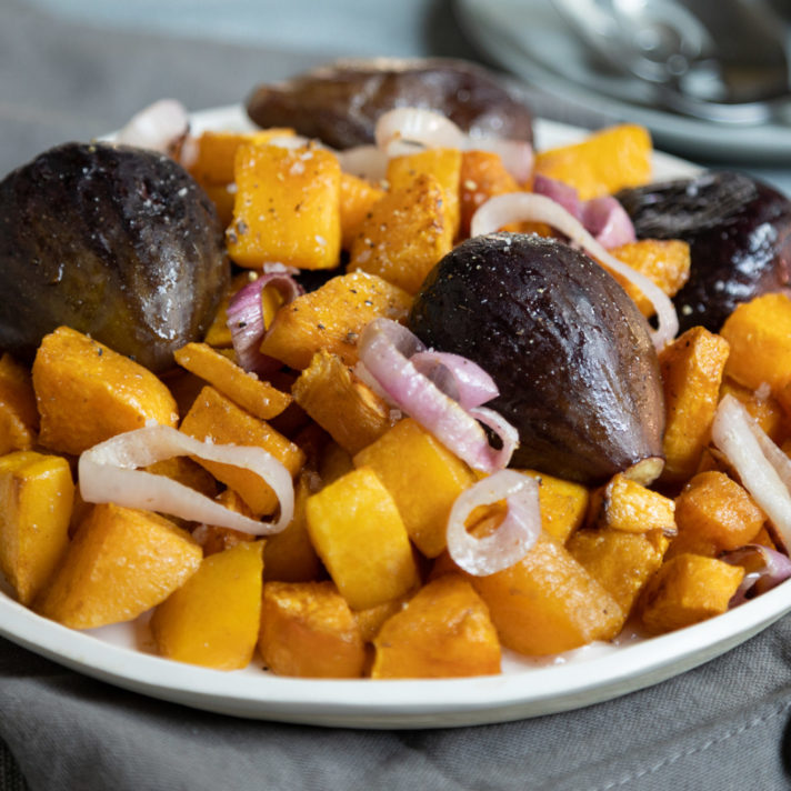 Roasted California Fresh Figs with Butternut Squash
