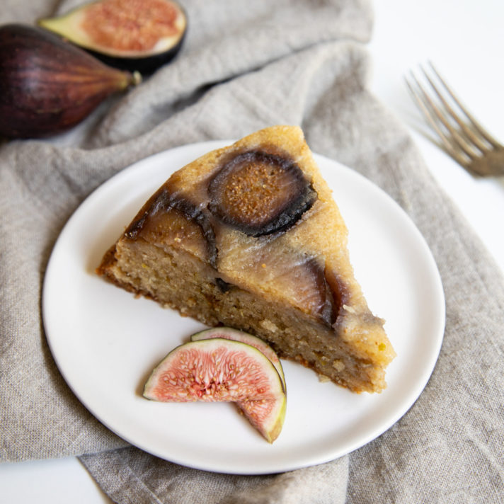 Olive Oil Lemon Cake with California Fresh Figs