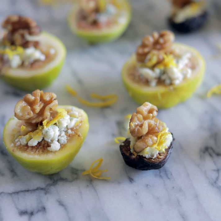 California Fig and Pecan Blue Cheese Bites